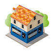 3D French House Vector