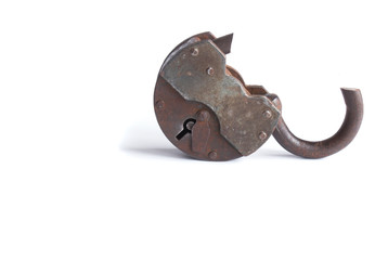 The broken door-lock