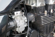 Motorcycle engine, carburetor and cylinder head
