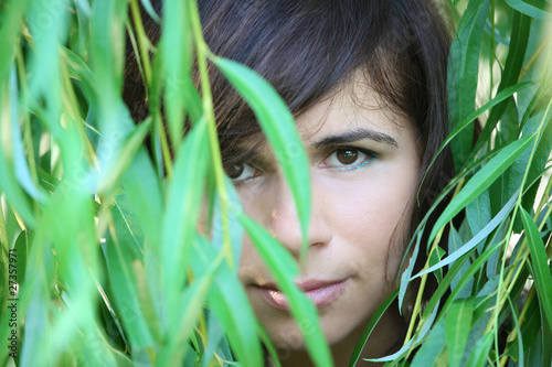 The girl in foliage