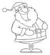 Outlined Laughs Santa