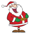 Laughs Santa Claus
