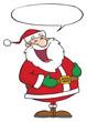 Laughs Santa Claus With Speech Bubble