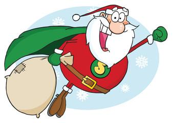 Santa Claus Fly