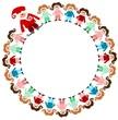 Kinder im Kreis mit Nikolaus