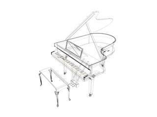 pianoforte disegnato