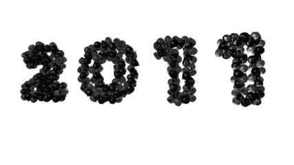 globos en 3d escribiendo el 2011