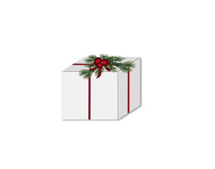christmas box isolated on white background