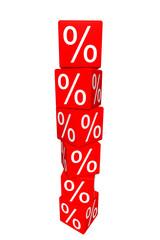 Prozente Stapel