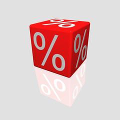 Prozentewürfel 3D