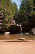 Waterfall and splash pool