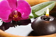 bougie et orchidée
