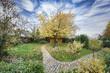 Garten  eines Einfamilienhauses im Herbst