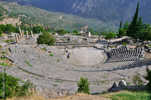 The theatre from Delphi, seen from above