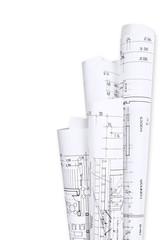 Architect´s plans, building project
