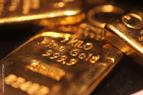 Leinwandbild Motiv Gold