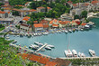 Bird eye view of sea Port of Kotor, Montenegro