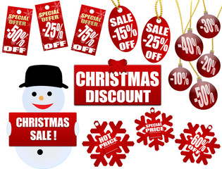 christmas price tags and labels