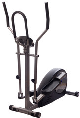 elliptical cross trainer isolated on white.
