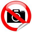 No photo camera shiny sign