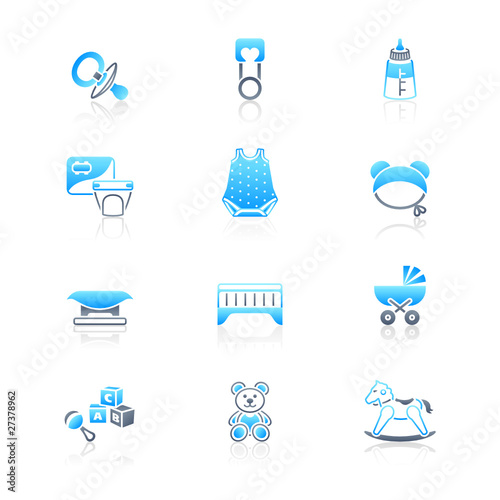 Baby objects icons | MARINE series