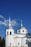temple on a background blue sky, city, Great, Novgorod, Russia