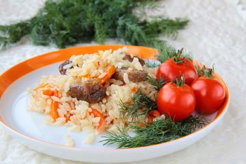 Eastern meal pilaf