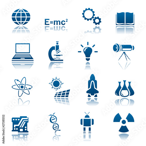 Science & technology icon set