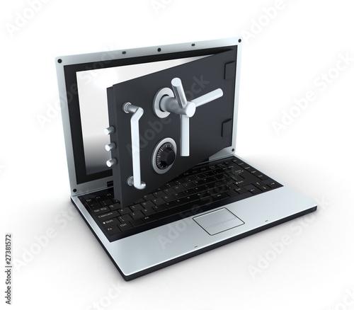 Laptop safe, view top