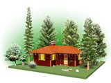Casa nel Bosco d'Inverno- Home in a Wood-3D