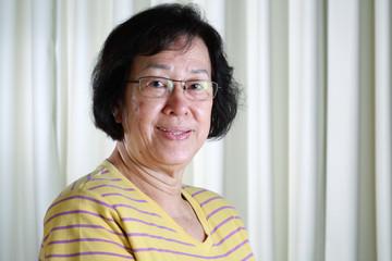 portrait of mature asian lady