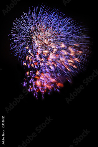 Fireworks selection on black background