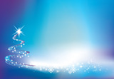 blue christmas twinkle background poster