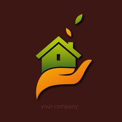 logo entreprise, maison écologique