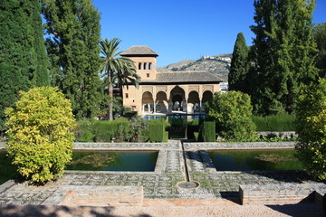 peaceful garden in Alhambra - Granada