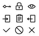 Icons for the site authorization form poster