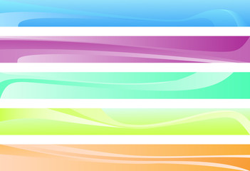 five abstract color pattern