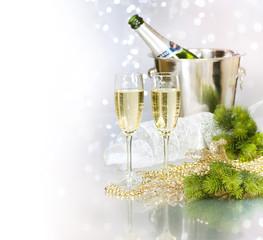 Champagne.New Year Celebration.