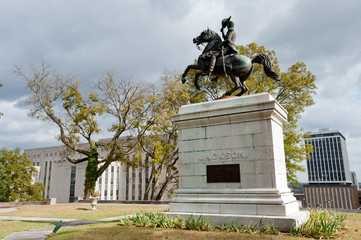 Andrew Jackson monument with Supreme court, Nashville, TN