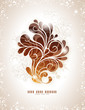 elegant swirly background in warm colors