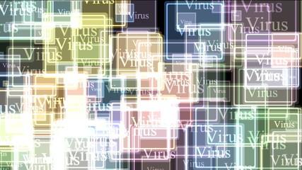 Virus alert glassy