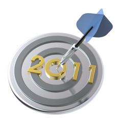 Dart hitting target - New Year 2011