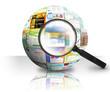 Leinwanddruck Bild - Internet Website Search 3D Ball