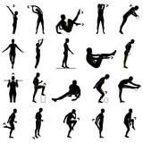 Fototapety Fitnessübungen Silhouetten