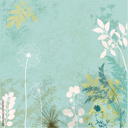 grunge-floral-background