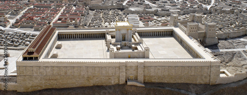 canvas print picture Second Temple of Jerusalem Model