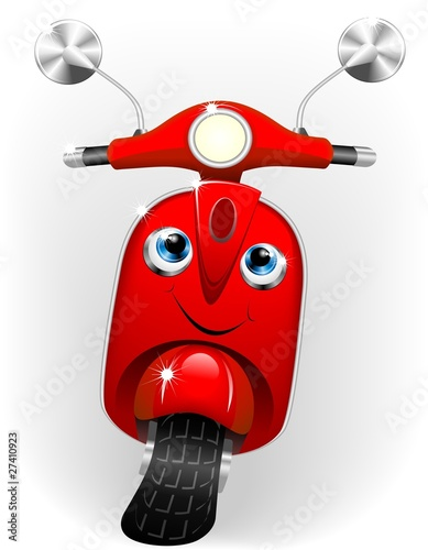 Scooter Cartoon Baby-Vector