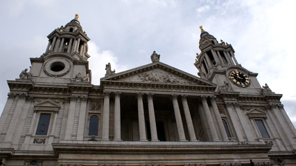 the two towers of the cathedral of st. paul's in london