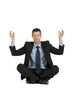 businessman practice yoga