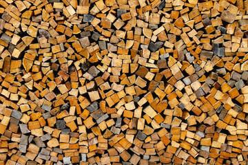 Vorrat an Feuerholz - Pile of firewood